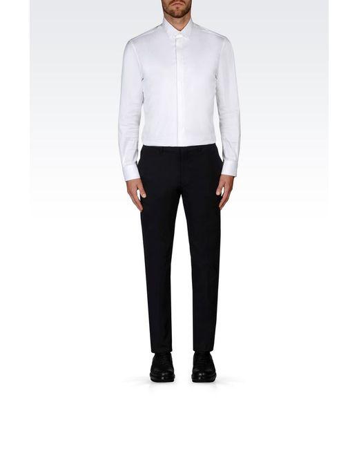 Emporio Armani | Blue Straight Leg Pant for Men | Lyst