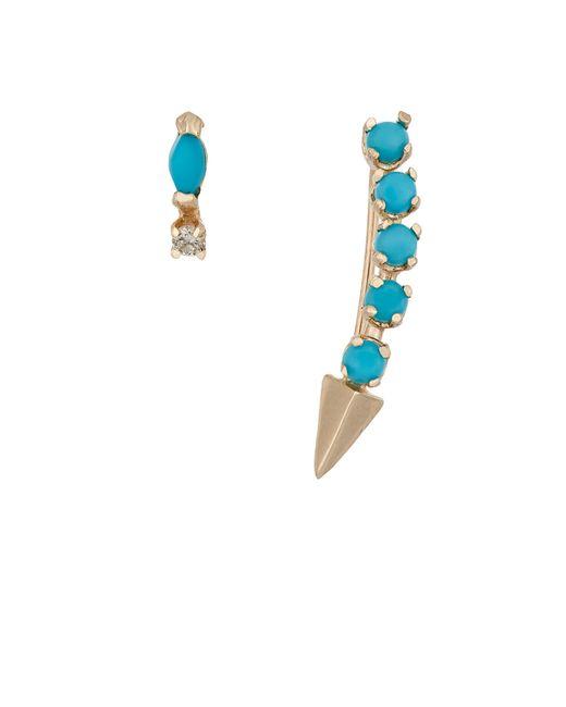 Loren Stewart | Metallic Diamond & Turquoise Earring Set | Lyst