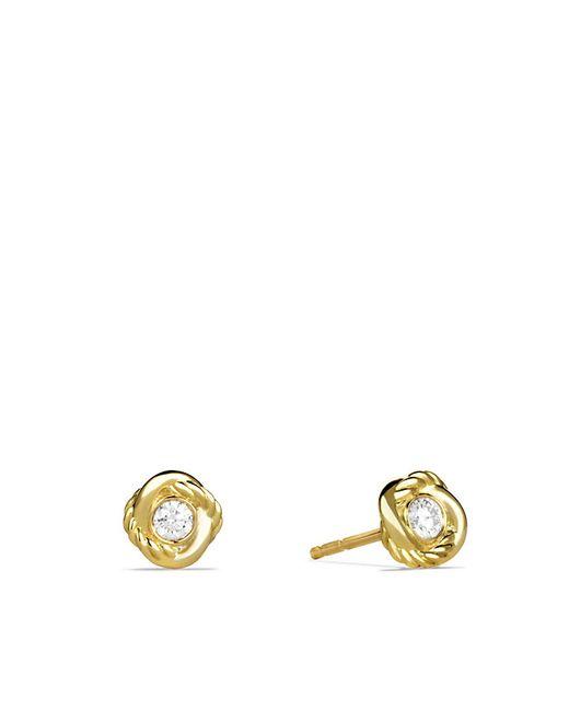 David Yurman | Metallic Infinity Earrings With Diamonds In Gold | Lyst