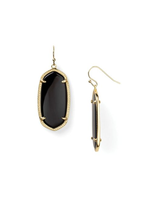 Kendra Scott | Black Danielle Earrings | Lyst