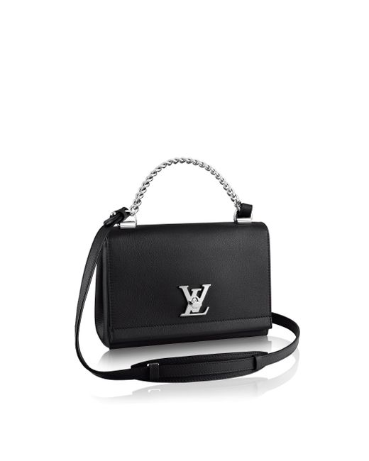 Louis Vuitton | Black Lockme II BB Leather Shoulder Bag | Lyst
