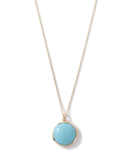 Ippolita   Blue 18k Lollipop Medium Round Pendant Necklace   Lyst
