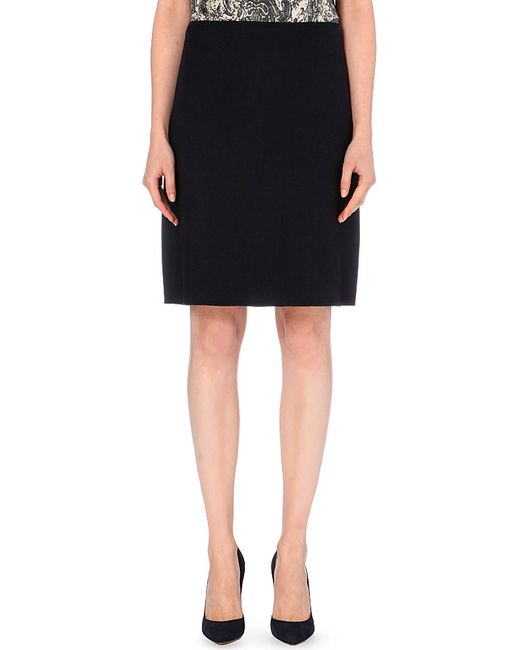 'S Max Mara | Varallo Wool And Angora-blend Skirt, Women's, Size: 12, Royal Blue | Lyst