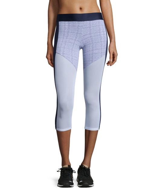 heroine sport racing paneled capri sport leggings in gray. Black Bedroom Furniture Sets. Home Design Ideas