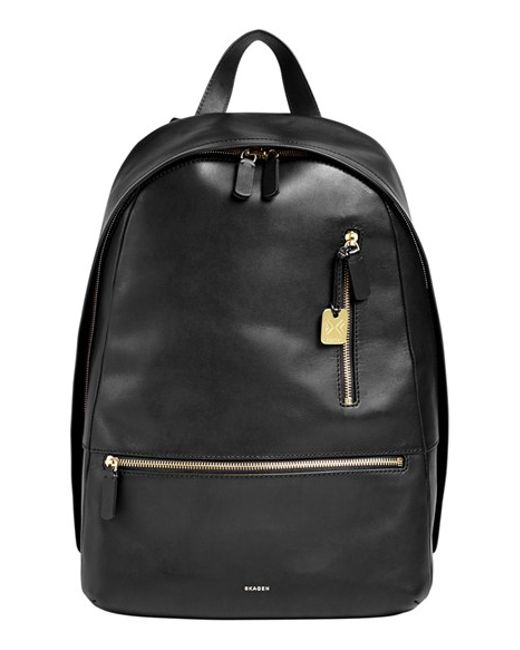 Skagen | Black 'kroyer 2.0' Leather Backpack for Men | Lyst