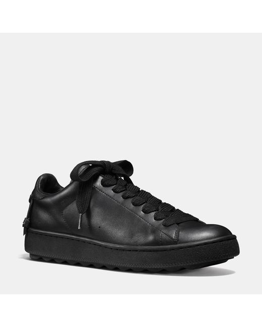 COACH | Black Leather C101 Low Top Sneaker for Men | Lyst