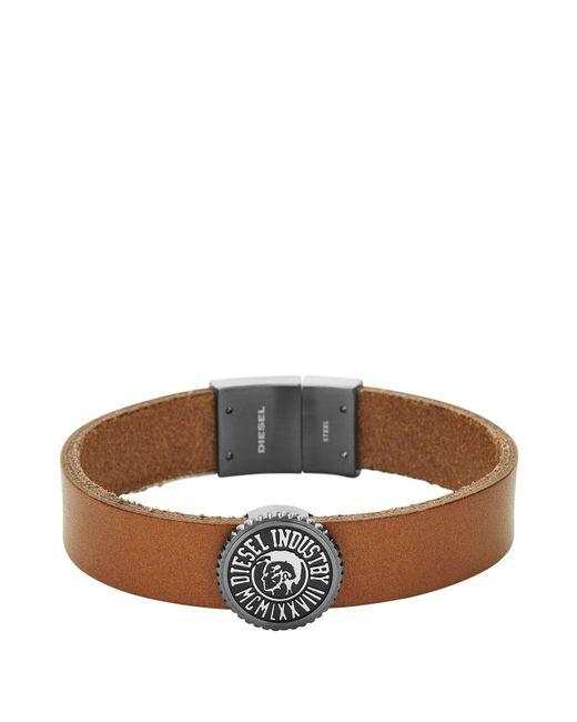 DIESEL | Brown Bracelet Dx0907 for Men | Lyst