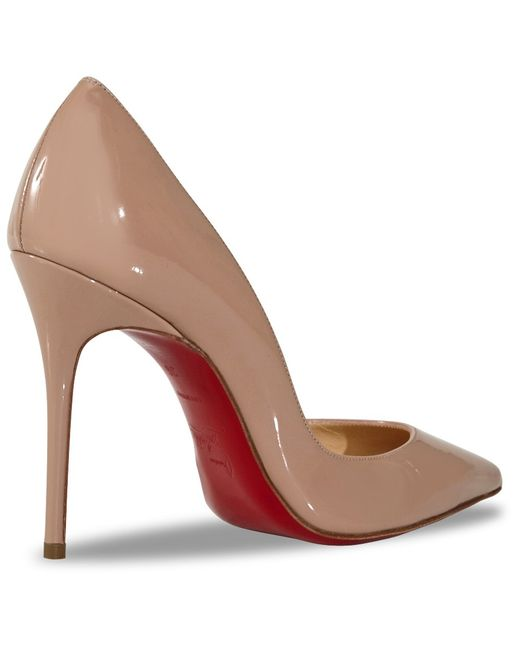 Christian louboutin Iriza Patent Leather Half D\u0026#39;Orsay Pumps in ...