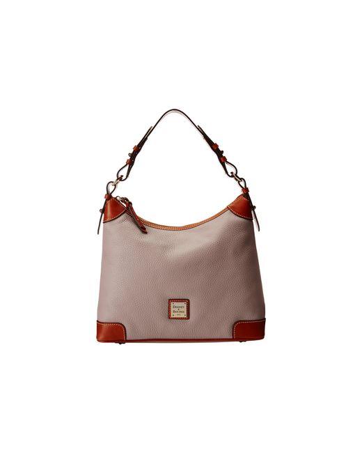 Dooney & Bourke   Natural Pebble Leather Hobo   Lyst