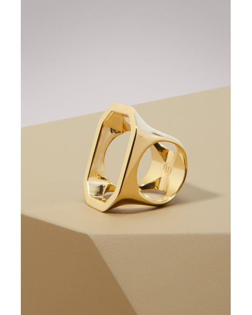 Maison Margiela - Metallic Cut-out Ring - Lyst