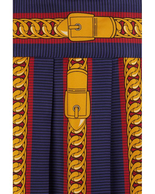 Gucci | Multicolor Sylvie Chain Print Silk Dress | Lyst