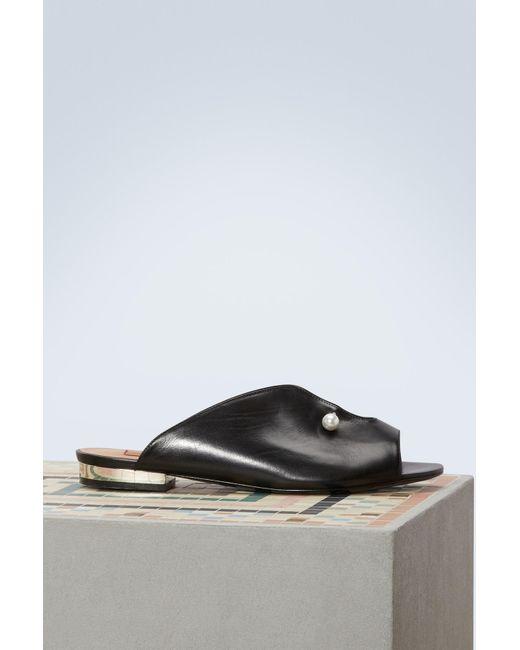 Coliac - Black Lucilla Leather Mules - Lyst