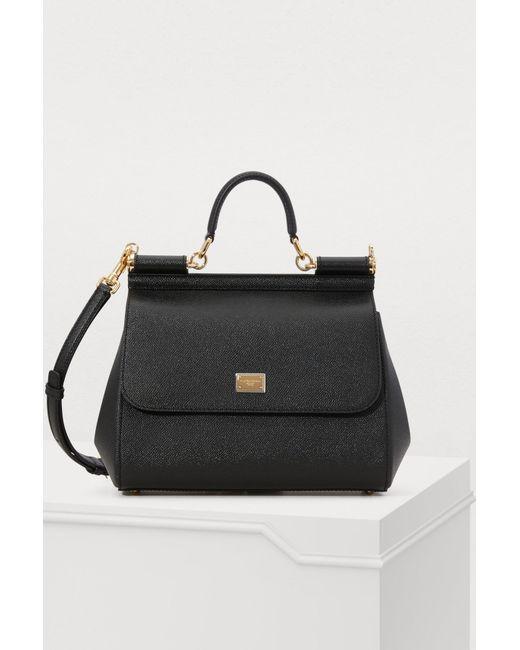 2bd106b4bdf7 Dolce   Gabbana - Black Sicily Mm Bag - Lyst ...