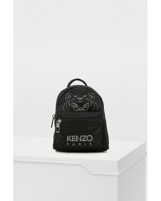 b3f206327d Lyst - KENZO Mini Satin Tiger Rucksack  holiday Capsule  in Black