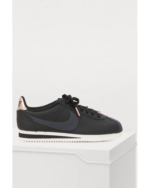 online store 32b9d c2abc Nike - Black Classic Cortez Sneakers - Lyst ...