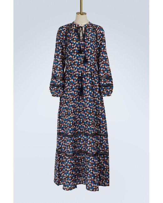 0ec6a7489562 Tory Burch - Blue Sonia Long Dress - Lyst ...