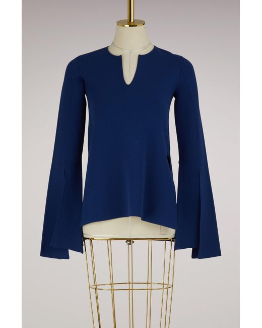 Stella McCartney - Blue Round Neck Sweater - Lyst