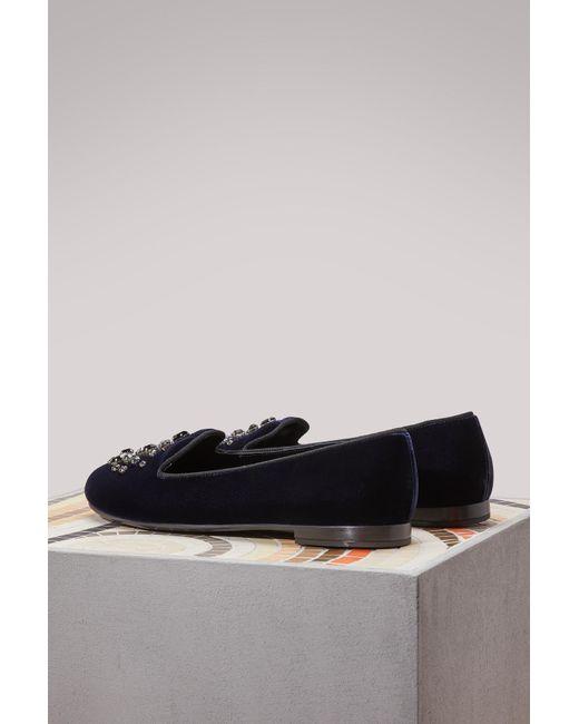 Church's Neve velvet loafers 58lB3j