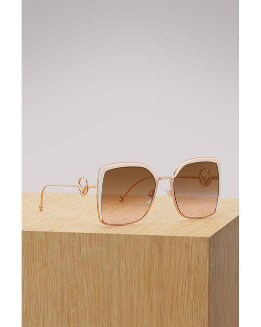 Fendi - Multicolor F Is Sunglasses - Lyst