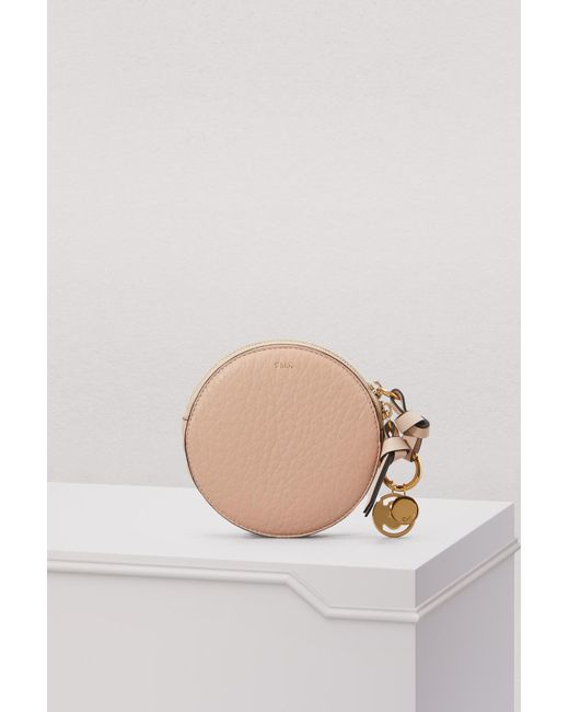 Chloé - Natural Alphabet Leather Round Wallet - Lyst