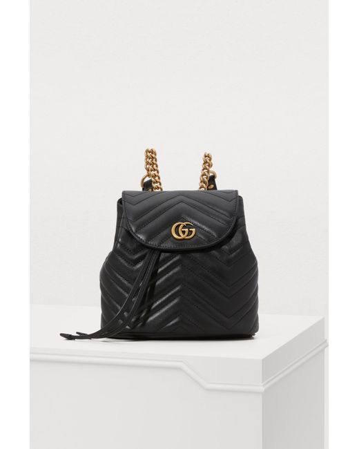 07c30422f270 Gucci - Black GG Marmont Small Backpack - Lyst ...