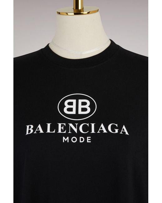 c07cfe7cd16 Balenciaga Bb Oversize T-shirt in Black - Save 3% - Lyst