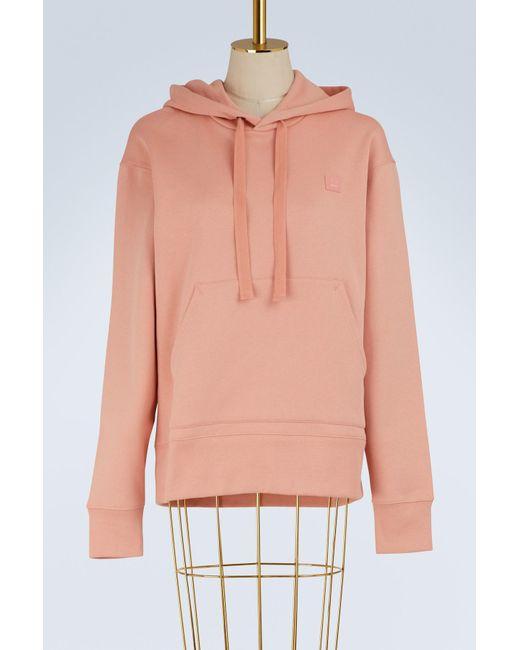 Acne - Pink Cotton Ferris Hoodie - Lyst