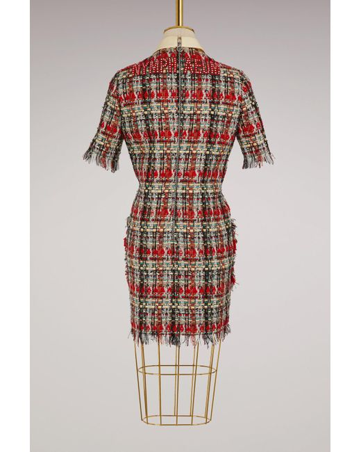 Gucci | Tweed Multicolor Dress | Lyst