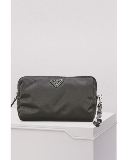 97af8826d240fe Prada - Black Nylon Clutch Bag - Lyst ...