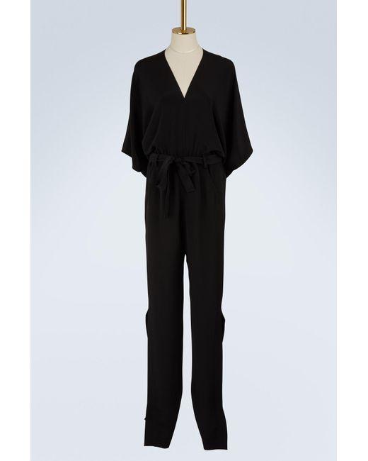 Roland Mouret - Black Millbridge Silk Crêpe Jumpsuit - Lyst