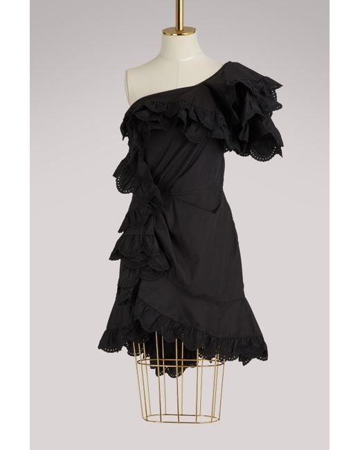 Isabel Marant - Black Jiska Ruffled Dress - Lyst