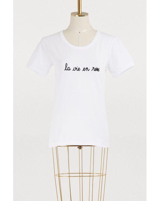 Maison Labiche - White La Vie En Rose Retro Tee - Lyst
