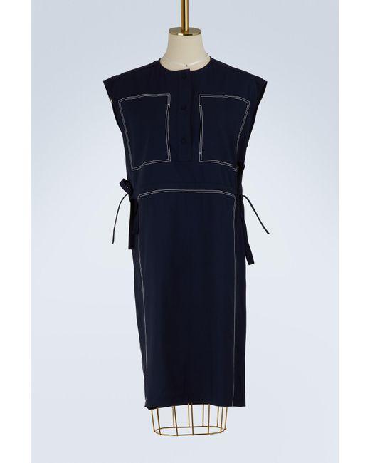Ports 1961 - Blue Sleeveless Wool Dress - Lyst