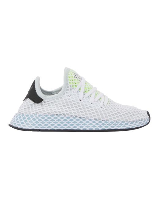 Adidas Originals White Deerupt Runner W Sneakers