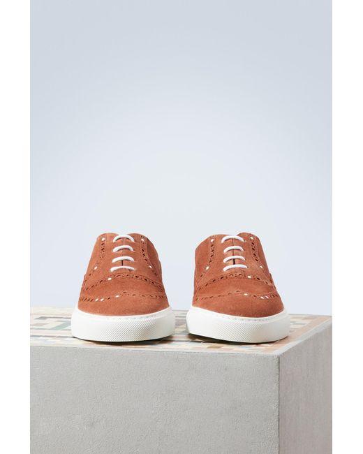 SARTORE Terracotta suede sneakers JNozv