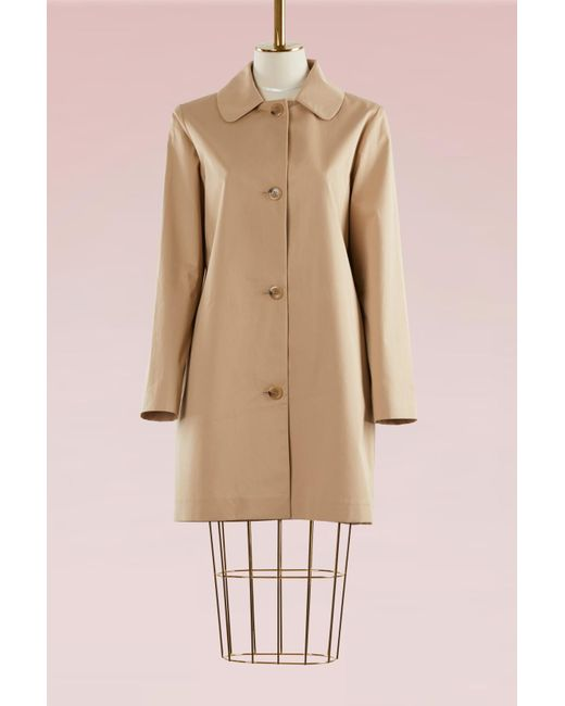 A.P.C. | Natural Poupée Mixed Cotton Coat | Lyst