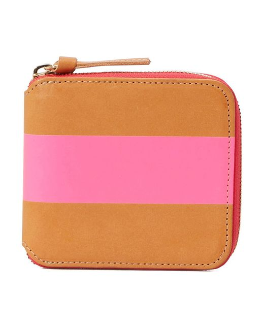 Clare V. Pink Zipped Wallet