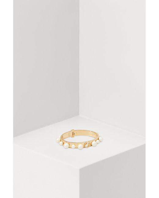 Fendi - Metallic Bracelet With Pearls - Lyst