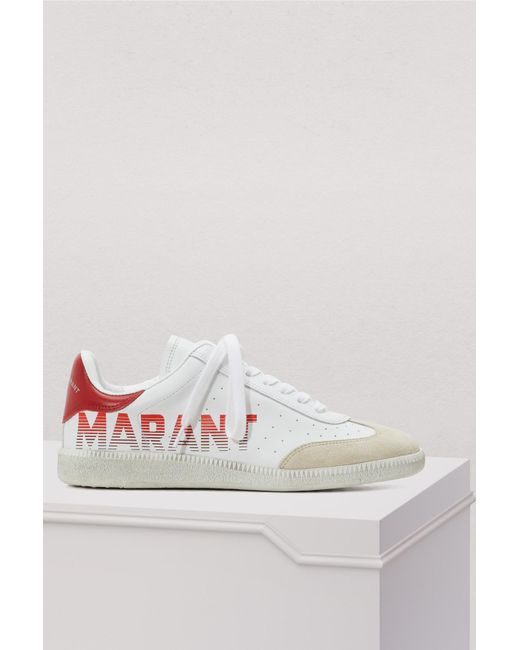 Isabel Marant - White Leather Bryce Sneakers - Lyst