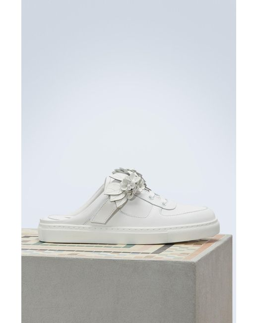 Sophia Webster - White Letaher Lilico Jessie Mules Sneakers - Lyst