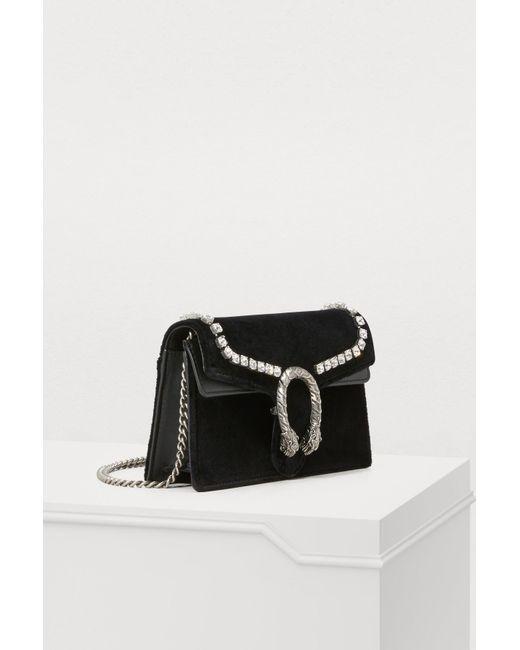 a0b2c91b1e4 ... Gucci - Black Dionysus Super Mini Bag - Lyst ...