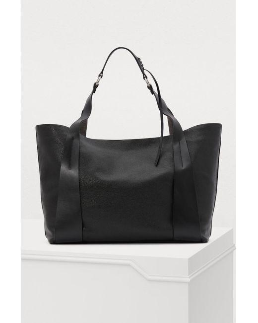 554657644ddd ... Miu Miu - Black Leather Gm Tote Bag - Lyst ...