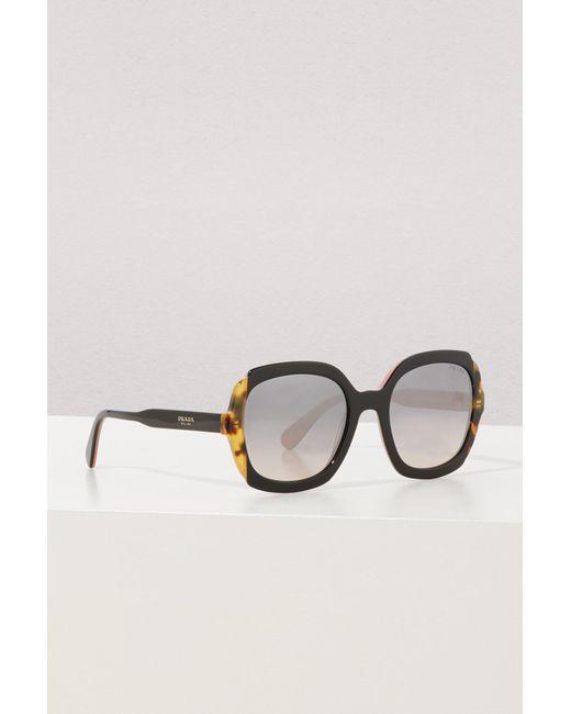 Prada - Brown Etiquette Sunglasses - Lyst