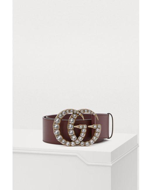 e49ad5682a8 Gucci - Multicolor Crystal GG Belt - Lyst ...