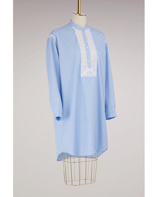 Lyst - Robe H Marysa Paul   Joe en coloris Bleu 7b78637a668b