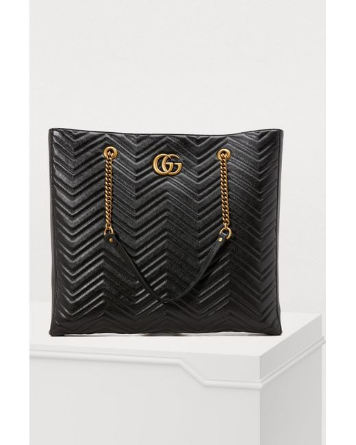 Gucci - Black GG Marmont Gm Tote - Lyst ... d9140f5005ad1