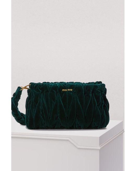 bd4122f2e174 Miu Miu - Multicolor Velvet Matelasse Big Crossbody Bag - Lyst ...