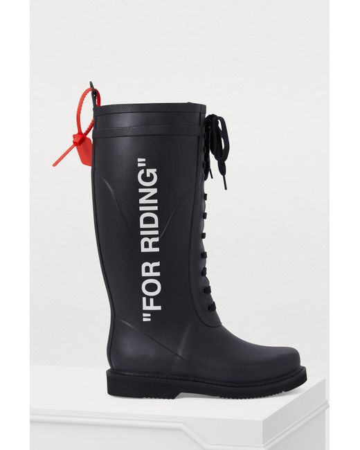 80b760ec10 Off-White c/o Virgil Abloh - Black For Riding Boots - Lyst ...