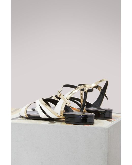Flat bicolore sandals Lanvin 7ANeU05WY