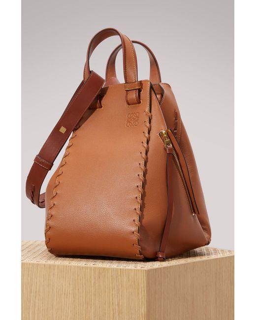 Loewe   Brown Hammock Laced Handbag   Lyst